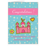 Pink Mosque Flowery Card