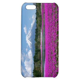 Pink moss and Mt. Fuji in the background Case For iPhone 5C