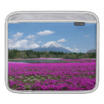 Pink moss and Mt. Fuji in the background iPad Sleeves