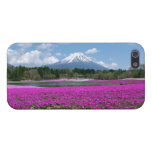 Pink moss and Mt. Fuji in the background iPhone 5 Case