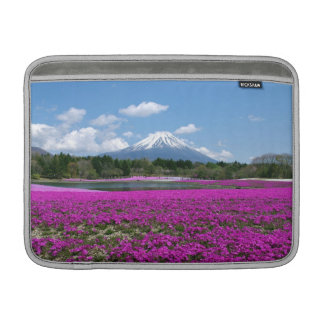 Pink moss and Mt. Fuji in the background MacBook Air Sleeve
