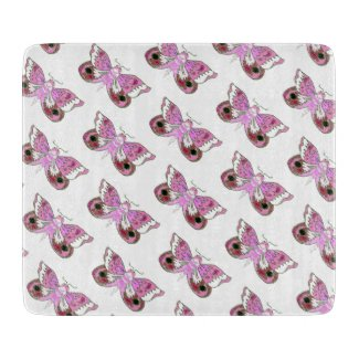 Pink Moth/Butterfly Altar Tile Cutting Board
