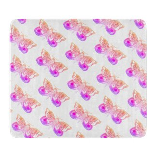 Pink Moth/Butterfly Altar Tile Hoodoo Rootwork Cutting Board