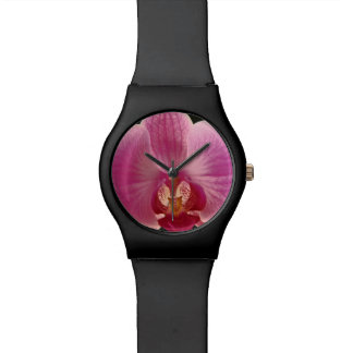 Pink Moth Orchid Flower Wrist Watch