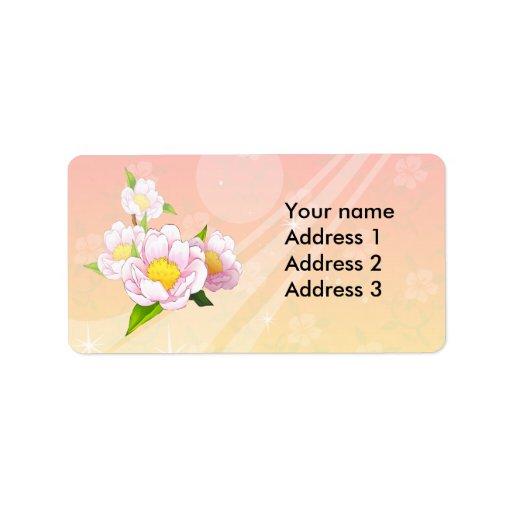 Pink moth orchid return address labels