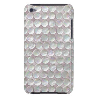 Pink Mother Of Pearl Sequins iPod Case-Mate Case