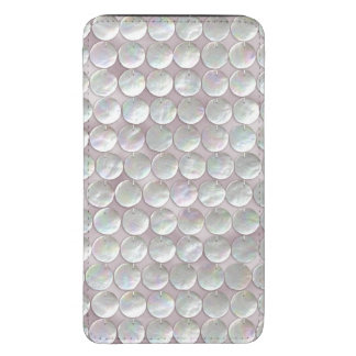 Pink Mother Of Pearl Sequins Galaxy S5 Pouch