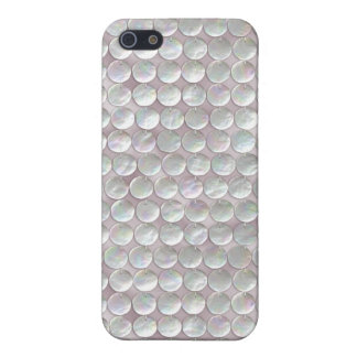 Pink Mother Of Pearl Sequins iPhone 5/5S Covers