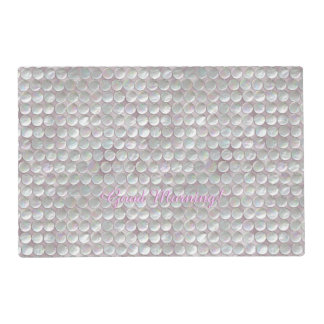 Pink Mother Of Pearl Sequins Laminated Place Mat