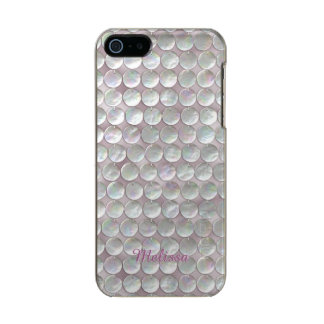 Pink Mother Of Pearl Sequins Metallic Phone Case For iPhone SE/5/5s