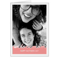 Pink Mothers Day Photo Love Mom Cut Out Text Cards