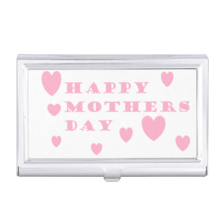 Pink Mothers Day Business Card Holders