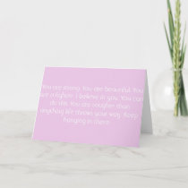 Pink Motivational Card