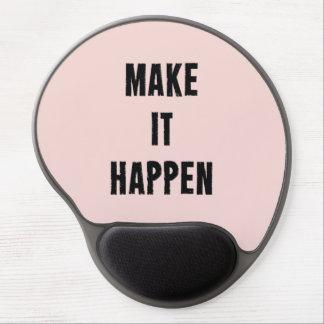 Pink Motivational Make It Happen Gel Mouse Mats