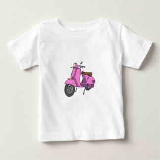 Pink Motor Scooter Baby T-Shirt