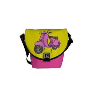 Pink Motor Scooter Messenger Bag