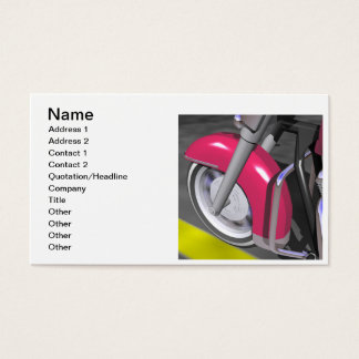 Pink Motorcycle Business Card