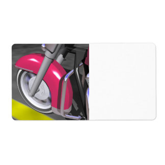 Pink Motorcycle Label