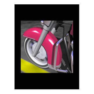 Pink Motorcycle Postcard