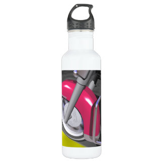 Pink Motorcycle Water Bottle