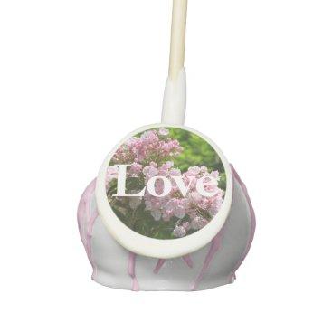 Bride Themed Pink Mountain Laurel Love Wedding Cake Pops