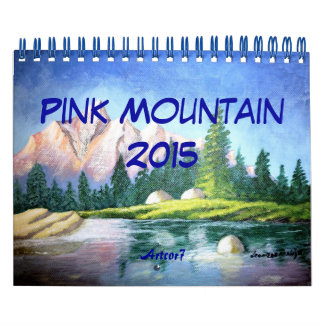 Pink Mountain Painting 2015 Calendar Small 2 Page