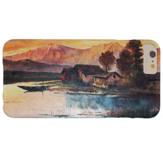 PINK MOUNTAINS LAKE ALPINE SUNSET LANDSCAPE BARELY THERE iPhone 6 PLUS CASE