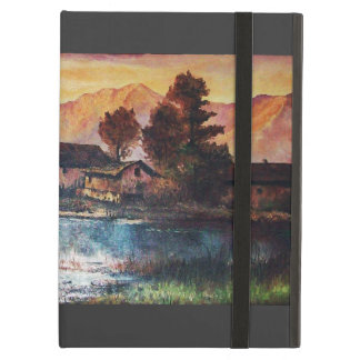 PINK MOUNTAINS LAKE ALPINE SUNSET LANDSCAPE iPad AIR COVER