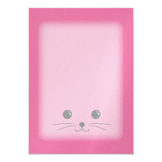 Pink Mouse Cute Animal Face Design Card