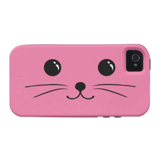 Pink Mouse Cute Animal Face Design Case For The iPhone 4