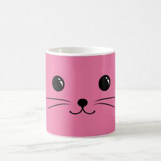 Pink Mouse Cute Animal Face Design Coffee Mug
