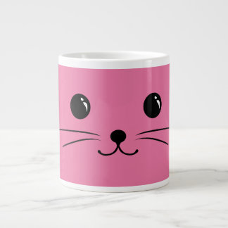 Pink Mouse Cute Animal Face Design Large Coffee Mug