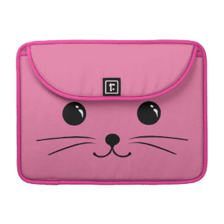 Pink Mouse Cute Animal Face Design MacBook Pro Sleeves
