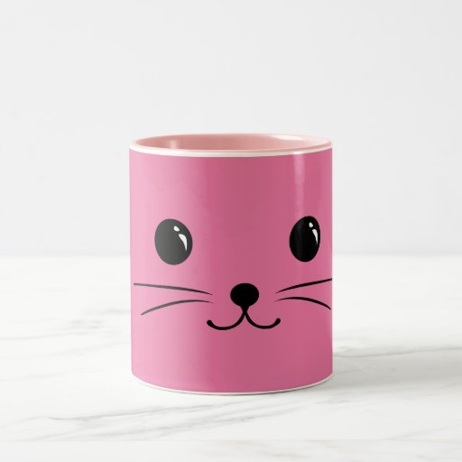 Pink Mouse Cute Animal Face Design Mugs