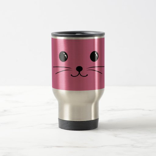 Pink Mouse Cute Animal Face Design Coffee Mugs