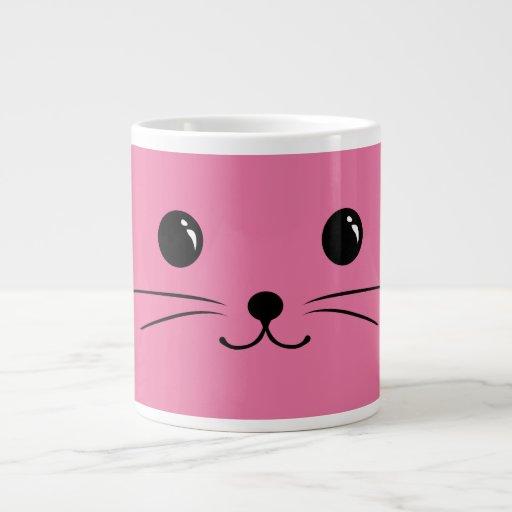 Pink Mouse Cute Animal Face Design Jumbo Mugs