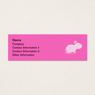 Pink Mouse. Mini Business Card