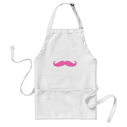 Pink Moustache Humor Create Your Own Adult Apron