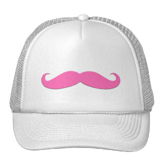 Pink Moustache Humor Create Your Own Mesh Hat