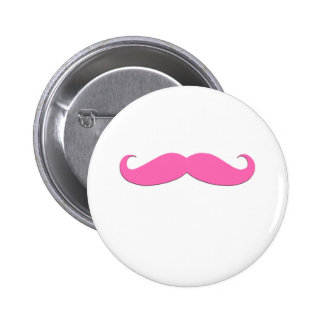Pink Moustache Humor Create Your Own Pinback Button