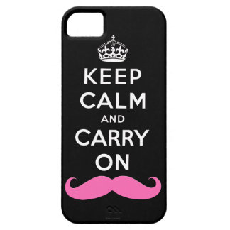 Pink Moustache Keep Calm and Carry On iPhone Case iPhone 5 Covers