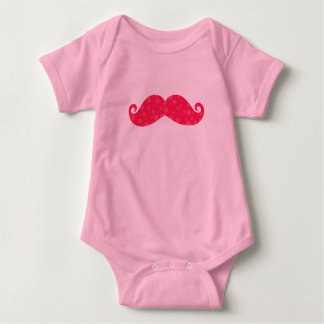 Pink Moustache with balls for babies Playera