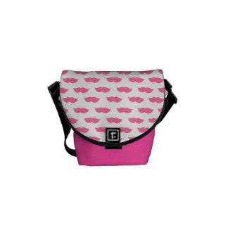 Pink Moustaches Messenger Bag