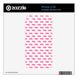 Pink Moustaches iPhone 4 Decals