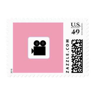 Pink Movie Party Postage