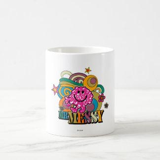Pink Mr. Messy   Colorful Swirls & Stars Coffee Mug