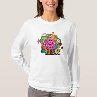 Pink Mr. Messy | Colorful Swirls & Stars T-Shirt