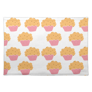Pink muffin pattern cloth placemat