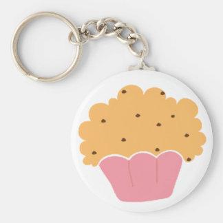 Pink muffin pattern key chains