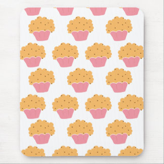 Pink muffin pattern mouse pad